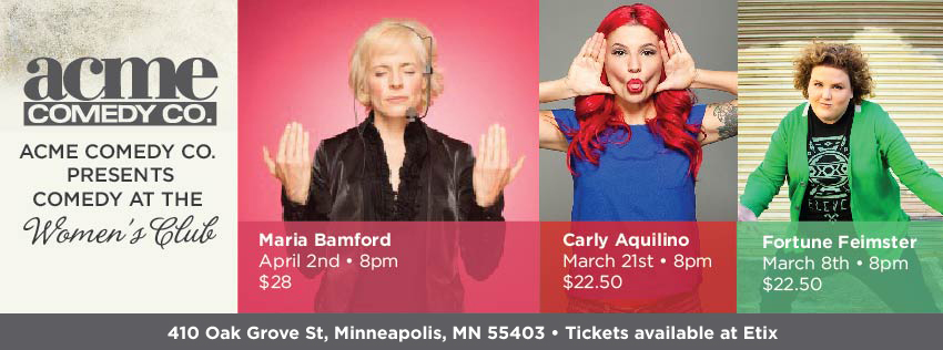 Comedy at the Women's club of Minneapolis